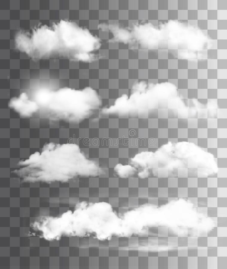 Free Set Of Transparent Different Clouds. Vector. Royalty Free Stock Photo - 109429105