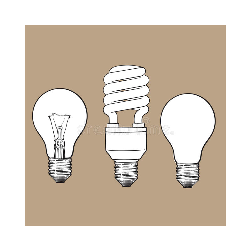 Free Set Of Transparent, Opaque, Glowing And Energy Saving Light Bulb Royalty Free Stock Image - 86231386