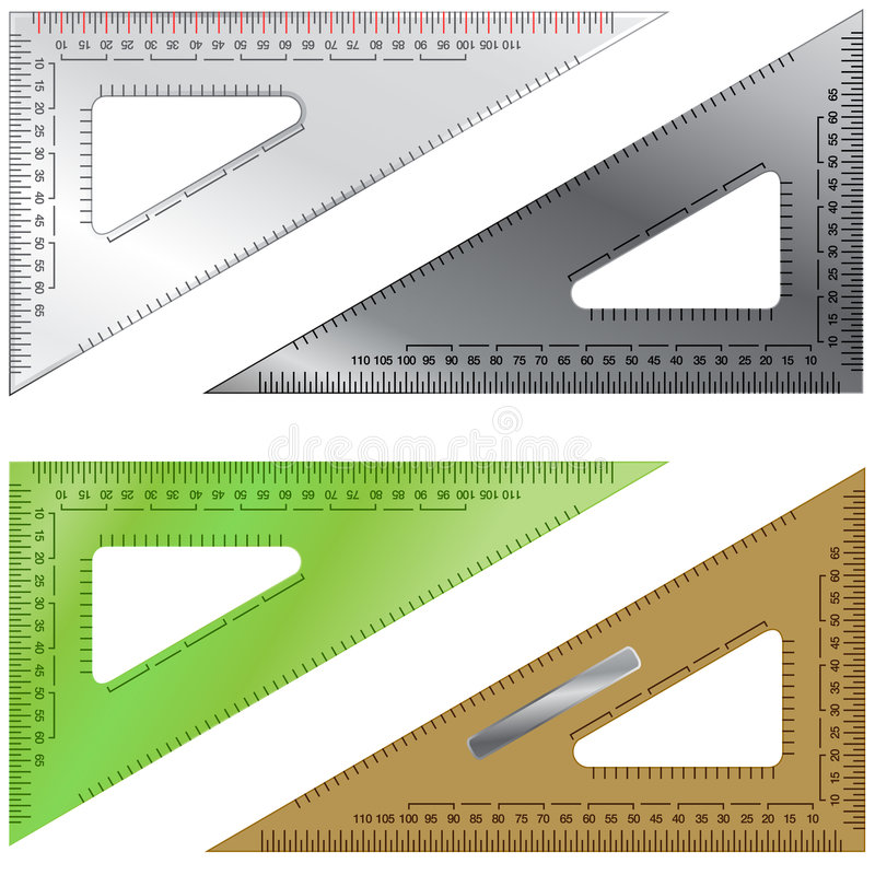 Free Set Of Triangles For Drafting And Engineering Stock Image - 8402621