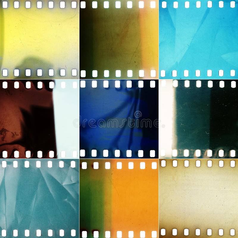 Free Set Of Various Grained Perforated Film Textures Royalty Free Stock Image - 84835376