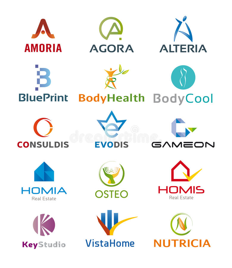 Free Set Of Various Icons And Logo Designs - Multiple Colors And Elements Royalty Free Stock Photography - 95139127