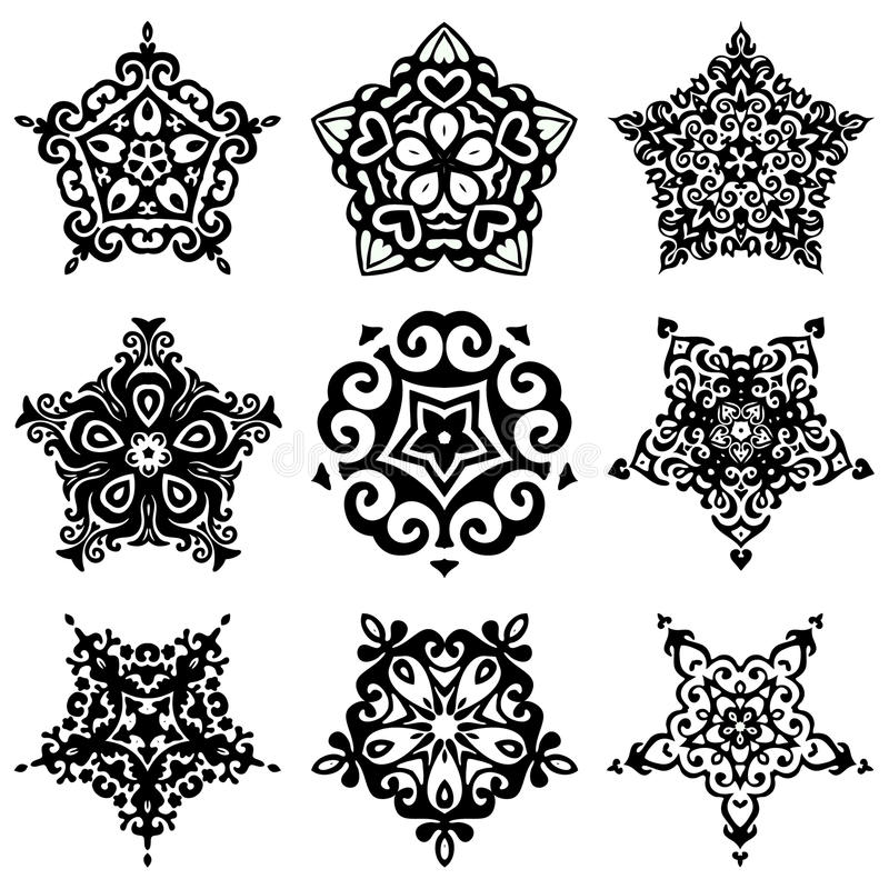Free Set Of Vector Graphic Abstract Ornamental Designs Royalty Free Stock Photos - 51787458