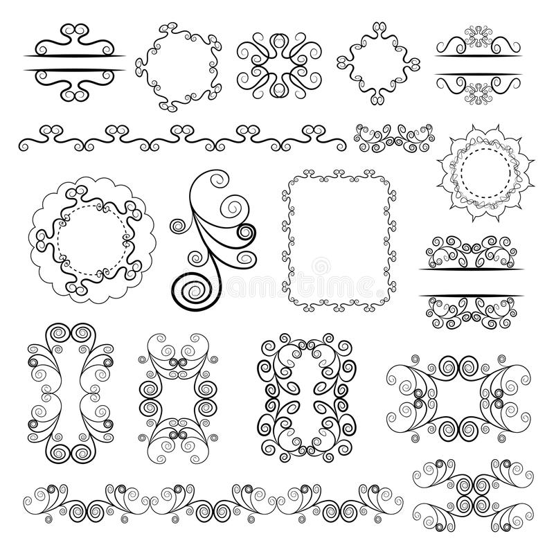 Free Set Of Vector Graphic Elements For Design Royalty Free Stock Images - 63932589