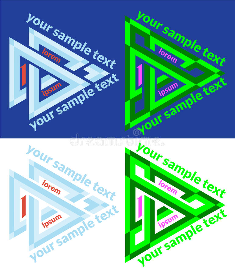 Free Set Of Vector Icons Of Abstract Triangle Royalty Free Stock Photo - 44343535