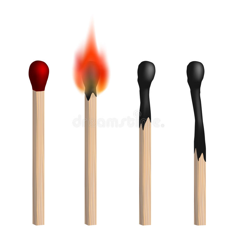 Free Set Of Vector Isolated Realistic Matches. Royalty Free Stock Photo - 85044025