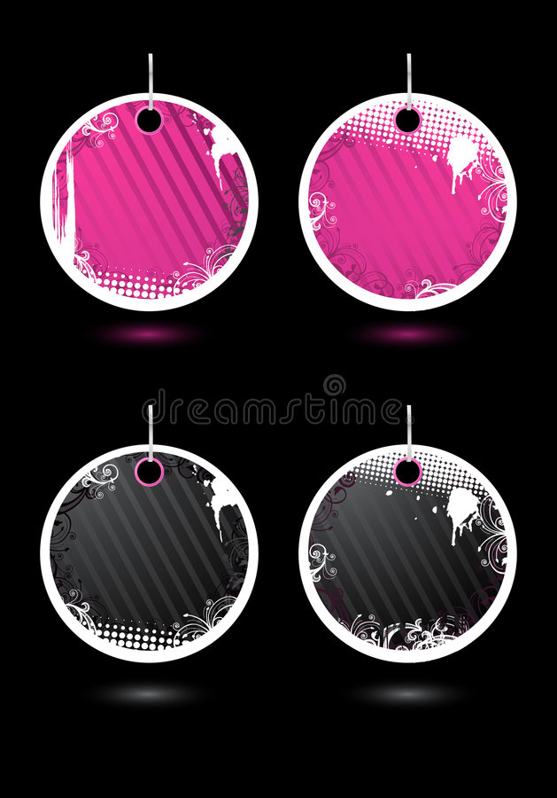 Free Set Of Vector Round Labels Royalty Free Stock Photo - 7209875