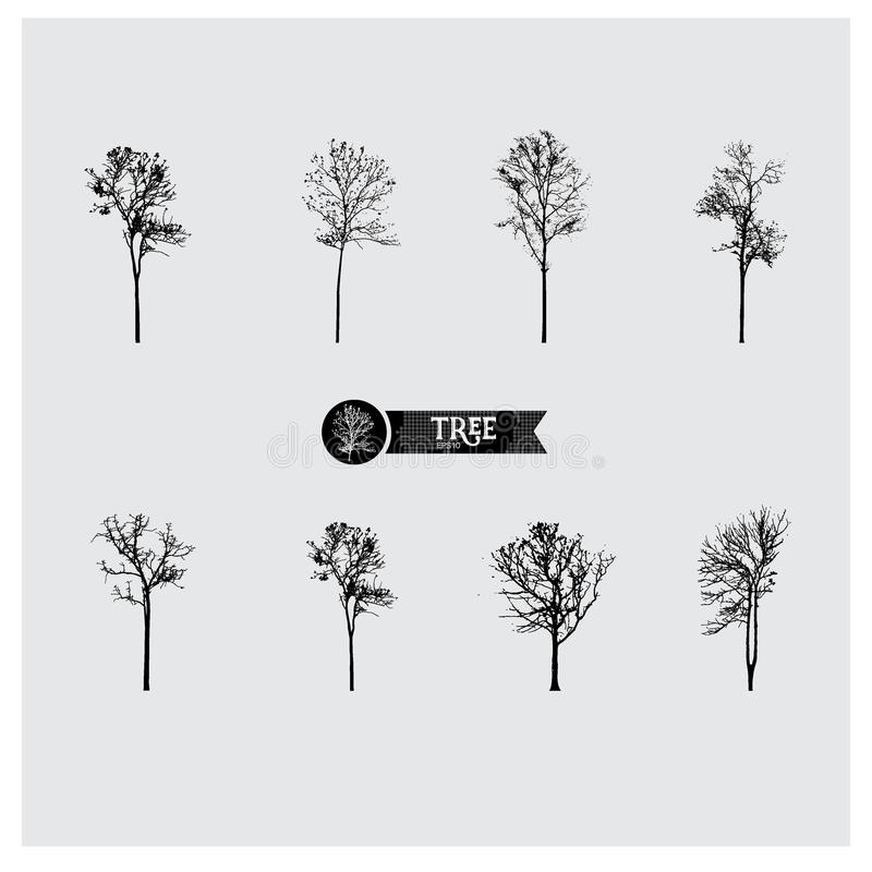 Free Set Of Vector Tree Silhouettes Stock Images - 73910994