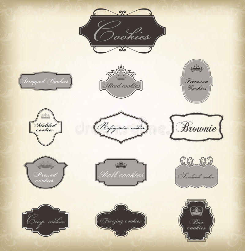 Free Set Of Vector Vintage Frames Royalty Free Stock Photography - 21151797