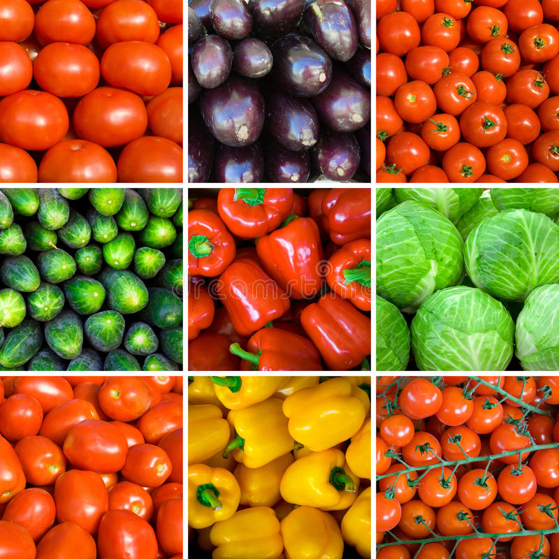 Free Set Of Vegetable Backgrounds Royalty Free Stock Photo - 10640755