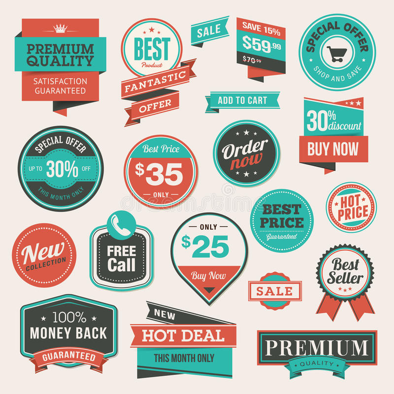 Free Set Of Vintage Badges And Stickers Stock Images - 29272474