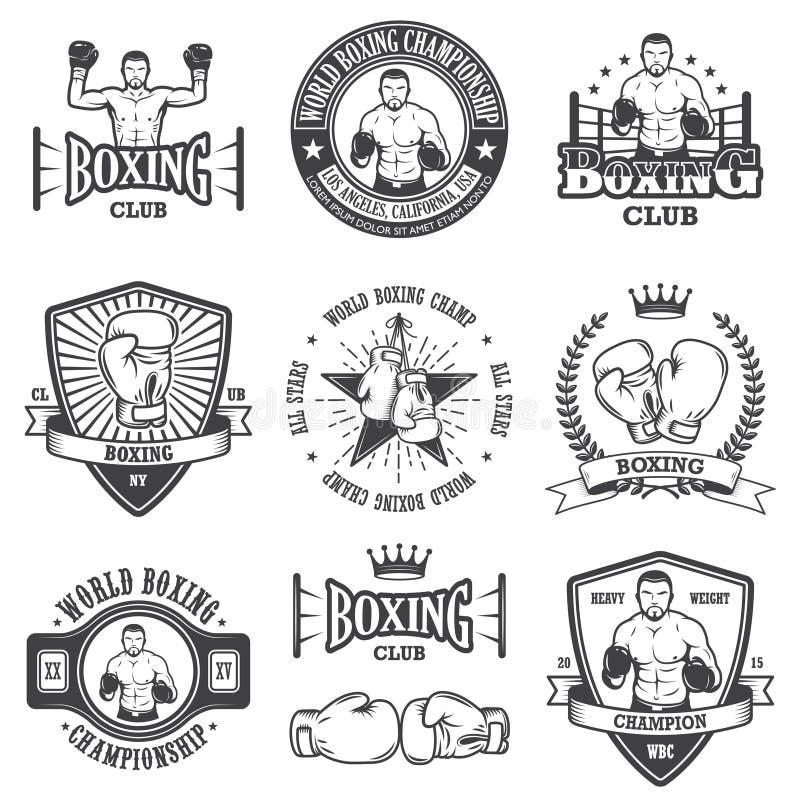 Free Set Of Vintage Boxing Emblems Stock Image - 50522421