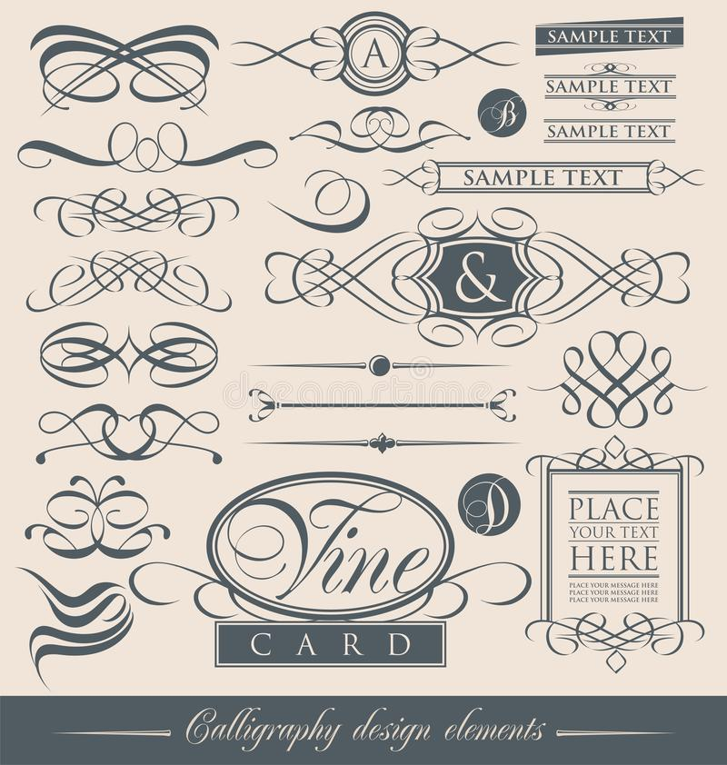 Free Set Of Vintage Calligraphic Design Elements And Vector Page Decorations. Stock Photos - 29388213