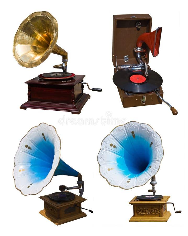 Free Set Of Vintage Gramophones Stock Photography - 4326252