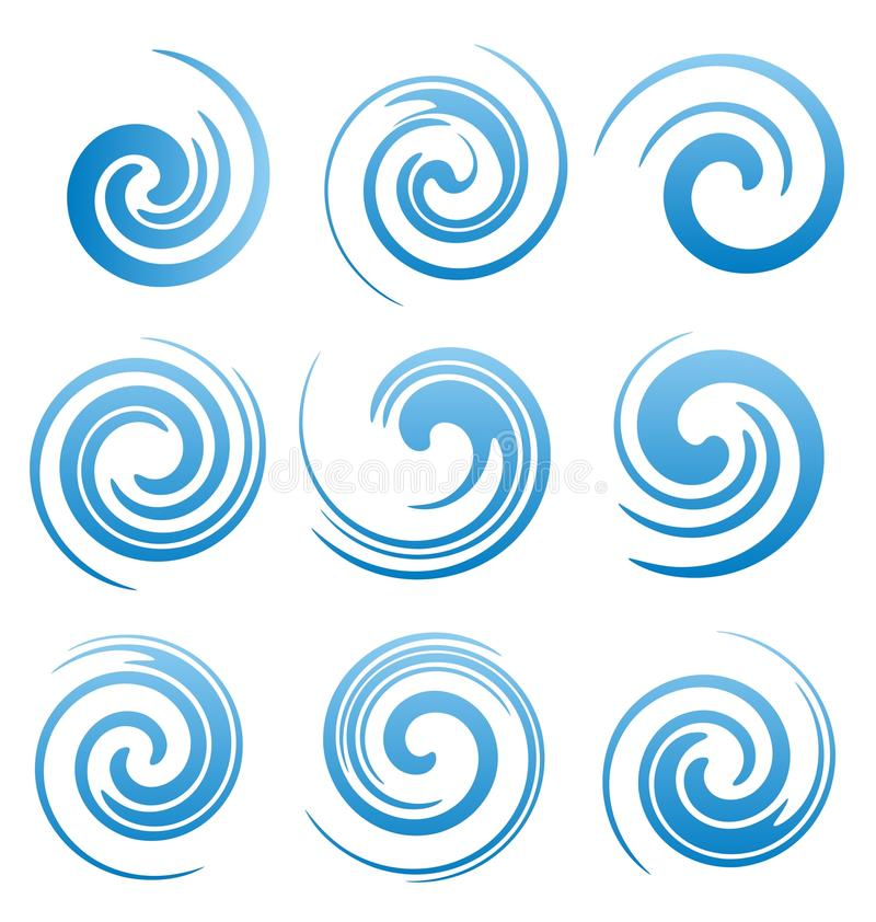 Free Set Of Water Swirls And Abstract Waves Royalty Free Stock Images - 32531769