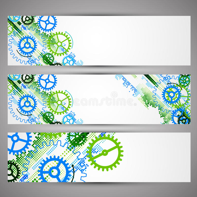 Free Set Of Web Tecnology Theme Banners For Your Web Site Royalty Free Stock Photo - 49257165