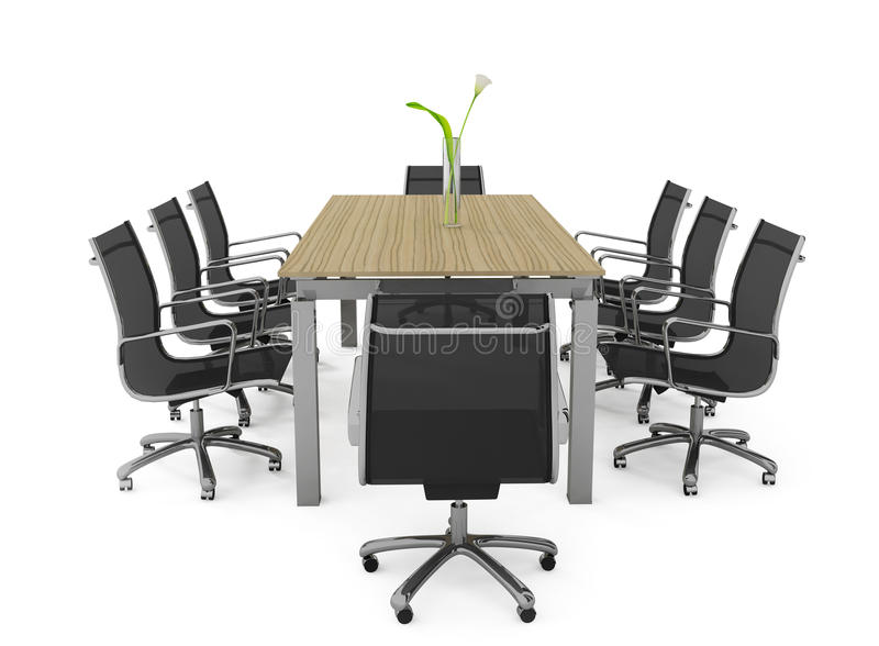 Set of office furniture. On a white background
