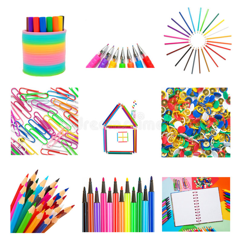 Set from office and school accessories vector illustration