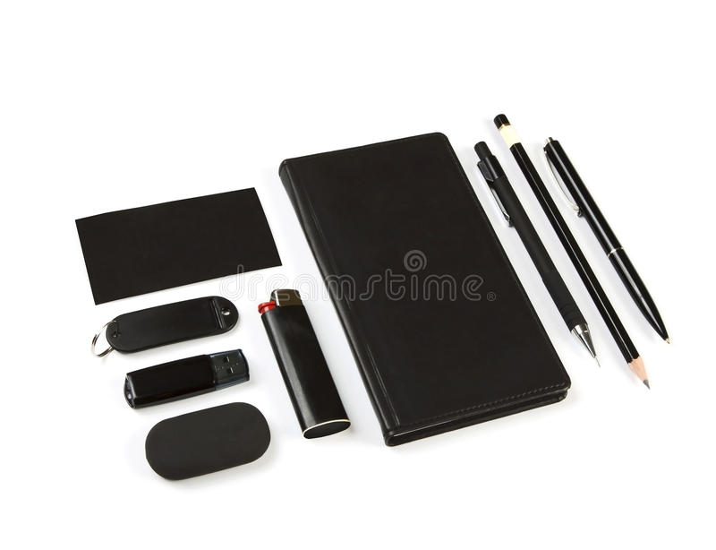 Set Of Office Stationery Royalty Free Stock Image
