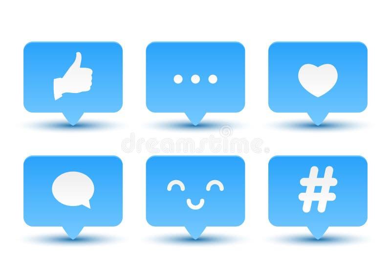 Set ogólnospołeczne medialne ikony ilustracji