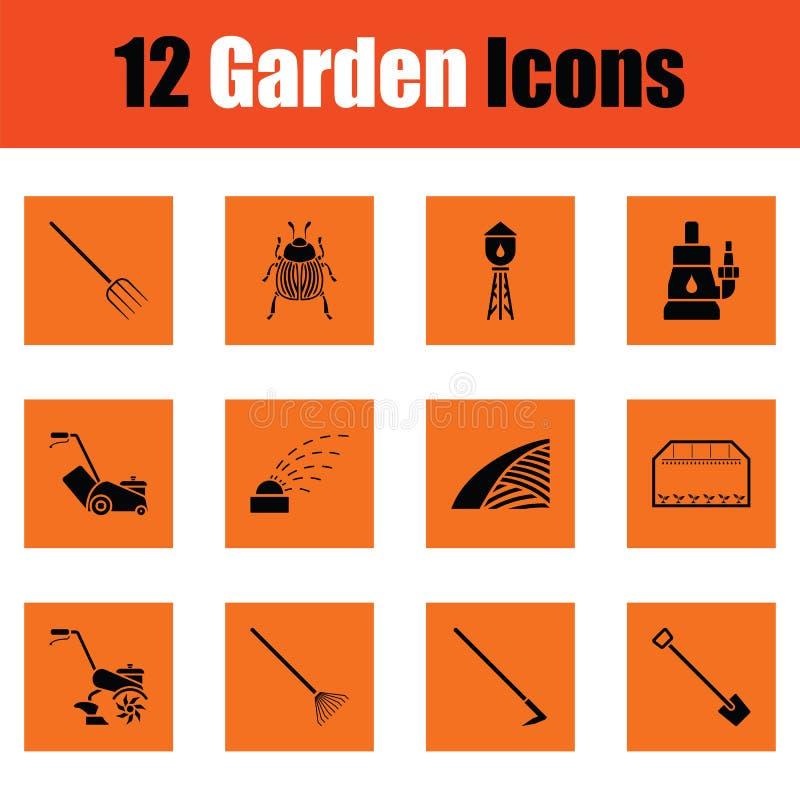 Set ogrodnictwo ikony royalty ilustracja