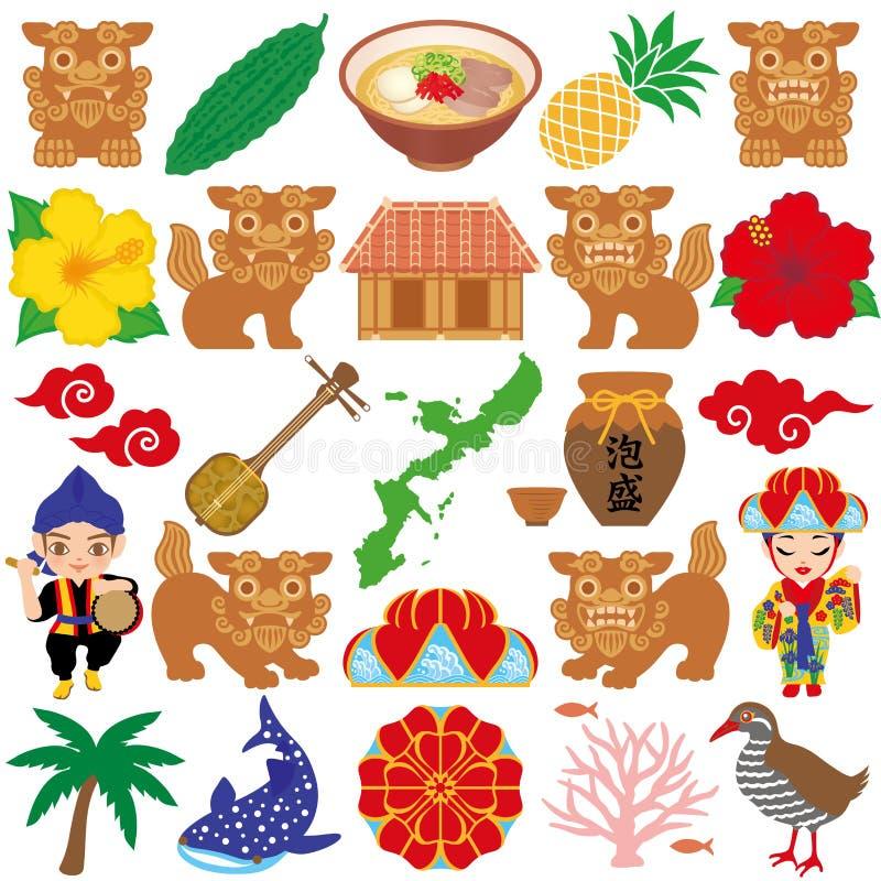 Okinawa ilustracje. royalty ilustracja