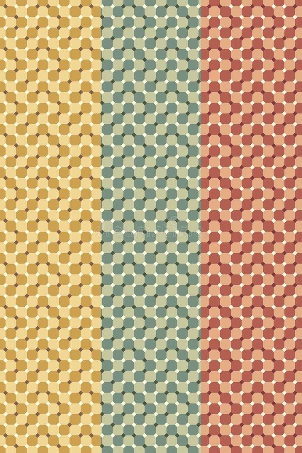 Set okulistycznego złudzenia bezszwowy wzór obraz stock