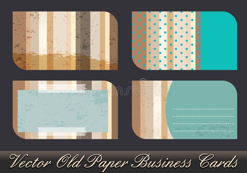 Set of old business card illustrations vector illustration
