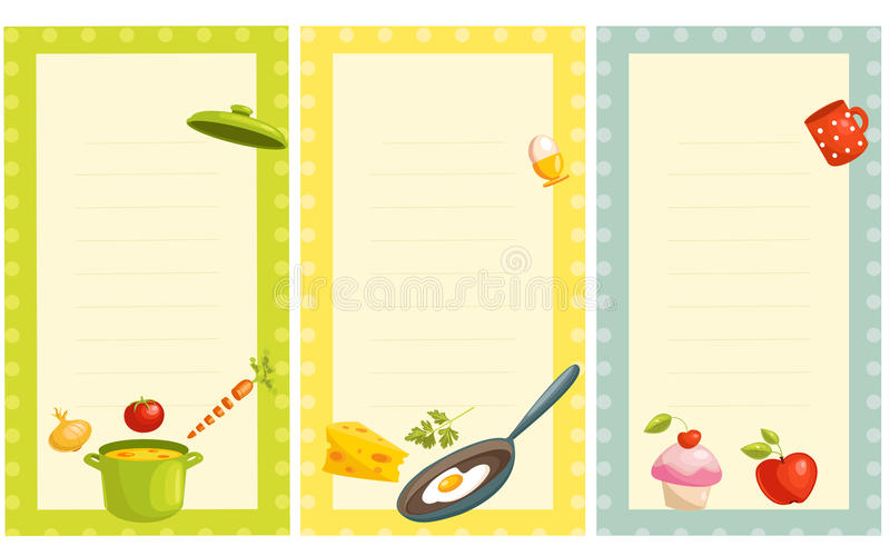 Download Set Of Old Fashioned Recipe Card Stock Vector - Image: 18541650