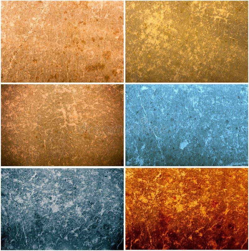 Set of old paper grunge textures royalty free illustration