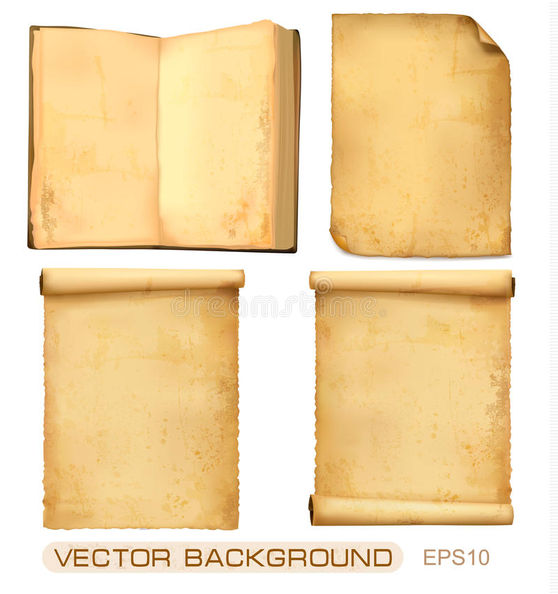 Download Set Of Old Paper Sheets. Vector. Stock Images - Image: 20828574