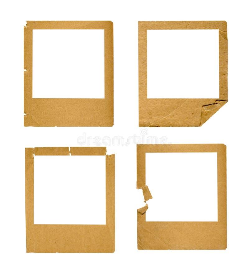Set of old paper slides on isolated background. Set of old paper slides on white isolated background vector illustration