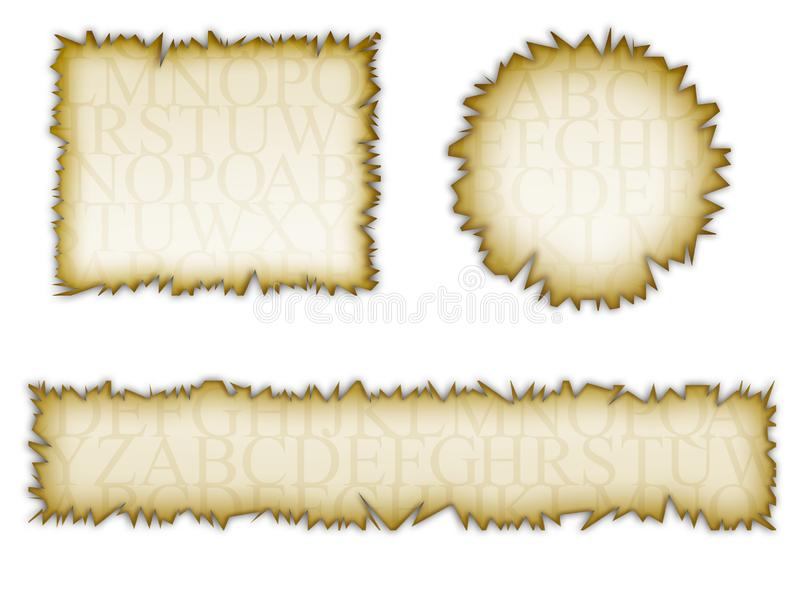 Set of old torn note paper royalty free stock photo
