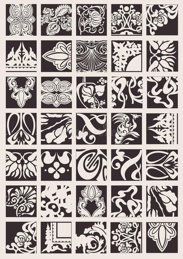 Download Set Of One Color Ornate  Design Elements Stock Photos - Image: 19103953