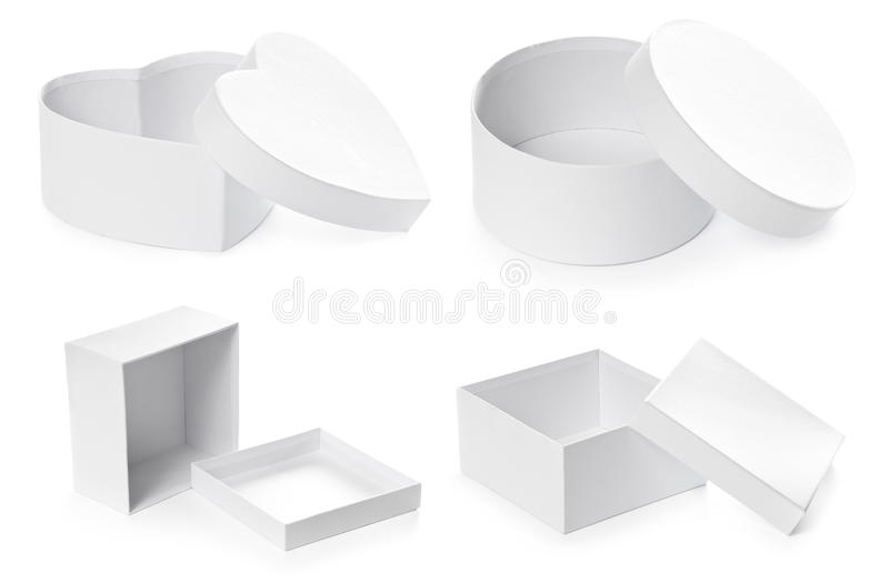 Download Set Of Opened Pasteboard Gift Boxes Stock Photography - Image: 22403322