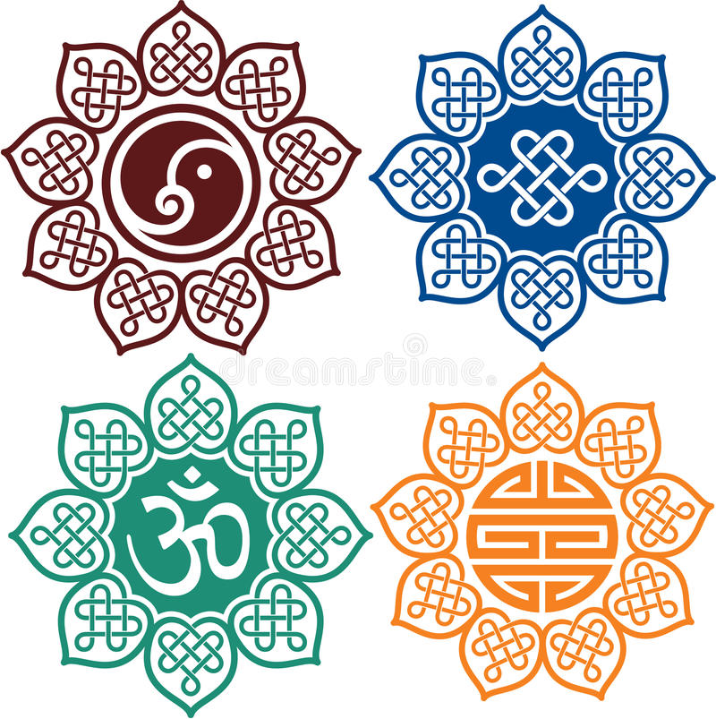 Set of Oriental Design Elements vector illustration
