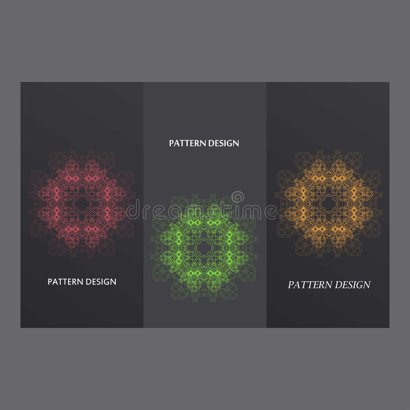 Set in oriental style on hexagons background.  vector illustration