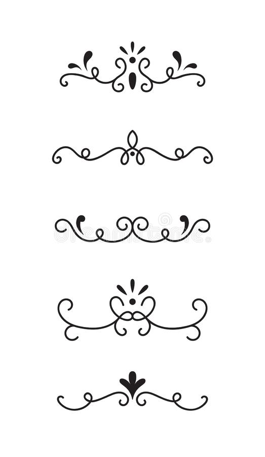 Set of ornamental decorative elements stock illustration