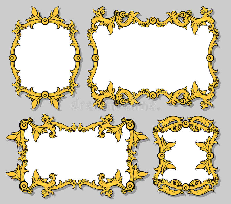 Download Set of ornamental frames stock vector. Image of shiny - 24381204