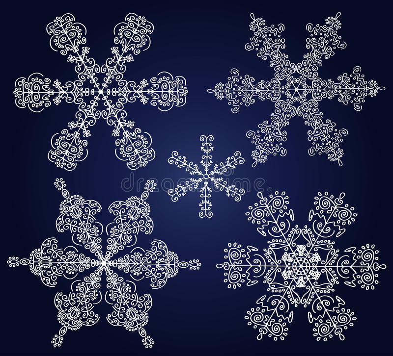 Download Set Of Ornamental Snowflakes Stock Vector - Image: 21754811