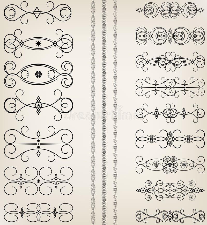 Set of ornaments. Illustration vector illustration