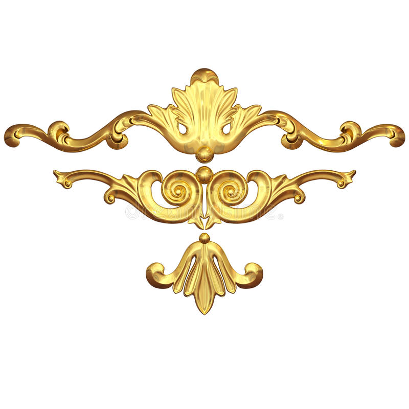 Set ornate vector illustration
