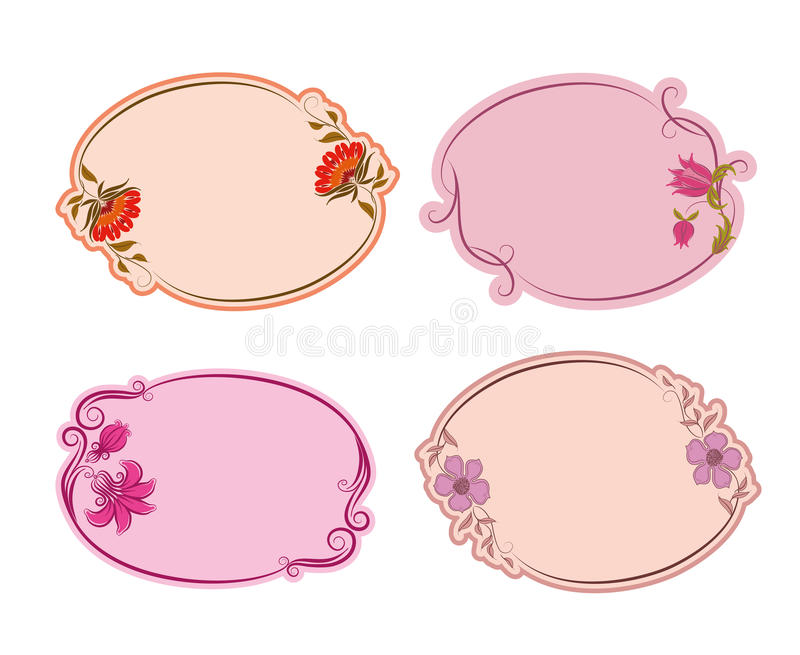 Set Of Ornate Vector Frames Stock Photography