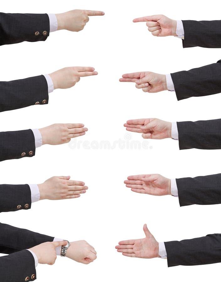 Set osiąganie biznesmena ręka zdjęcia royalty free