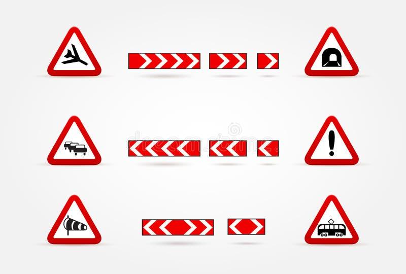 Download Set Ostrzegawczy Ruch Drogowy Znaki Ilustracji - Ilustracja złożonej z pomoc, rondo: 28955010