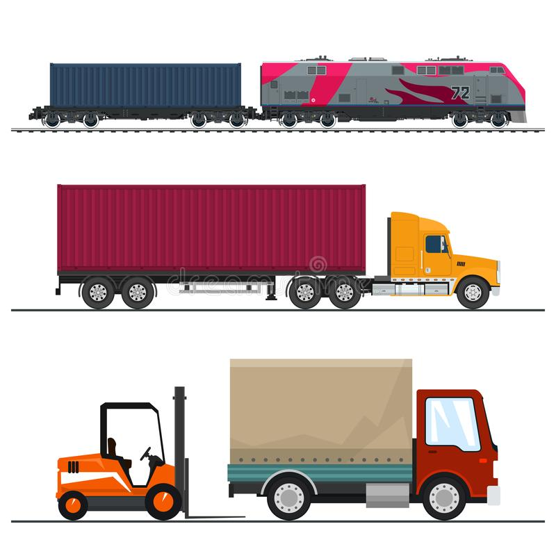 Shipping And Freight Of Goods Stock Vector - Illustration of