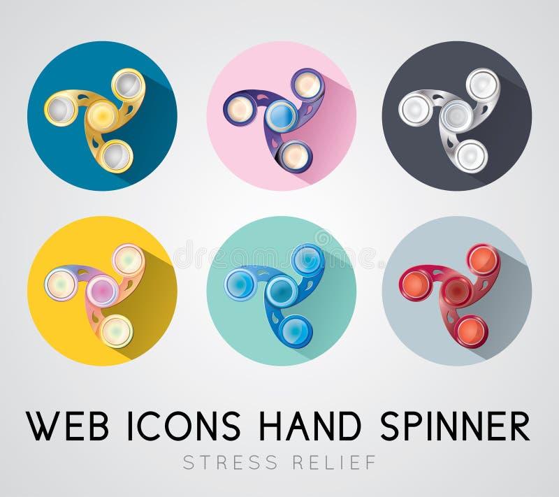 Set płaski projekt ikon ręki kądziołek royalty ilustracja