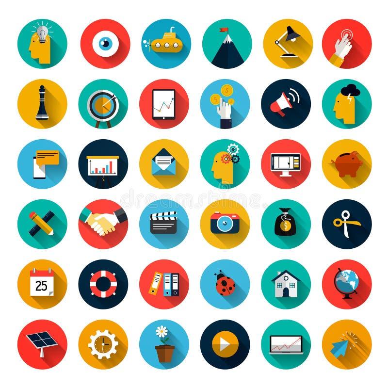 Set płaskie ikony royalty ilustracja