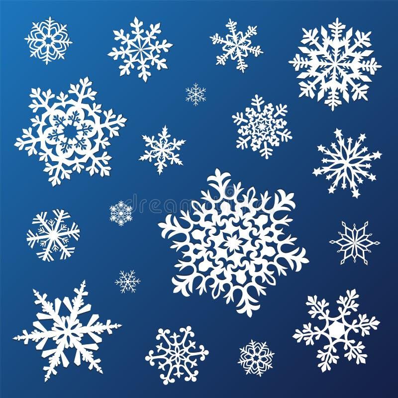 Set płatki śniegu royalty ilustracja
