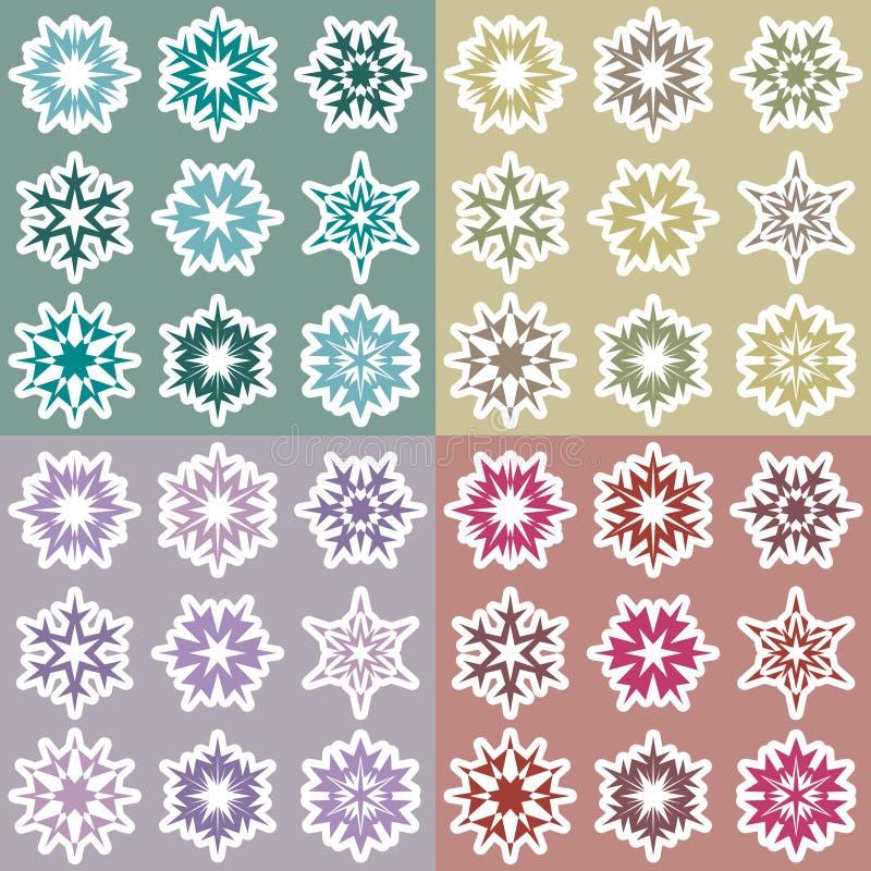 Set płatki śniegu 2 ilustracja wektor