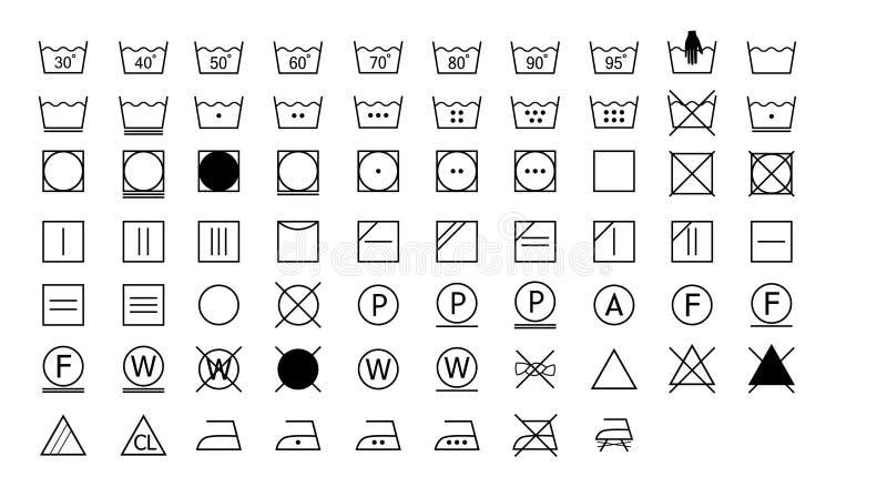Set płuczkowe instrukcj ikony ilustracja wektor